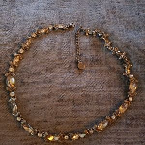 Givenchy Chocolate Brown Crystal Necklace